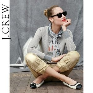 J. Crew Herringbone Cotton Jackie Cardigan